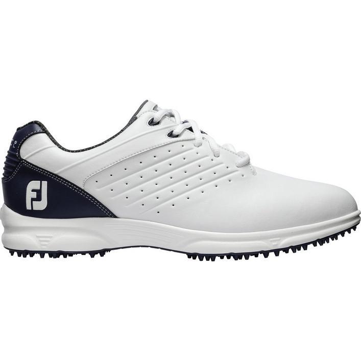 Men's Arc SL Spikeless Golf Shoe - WHT/NVY