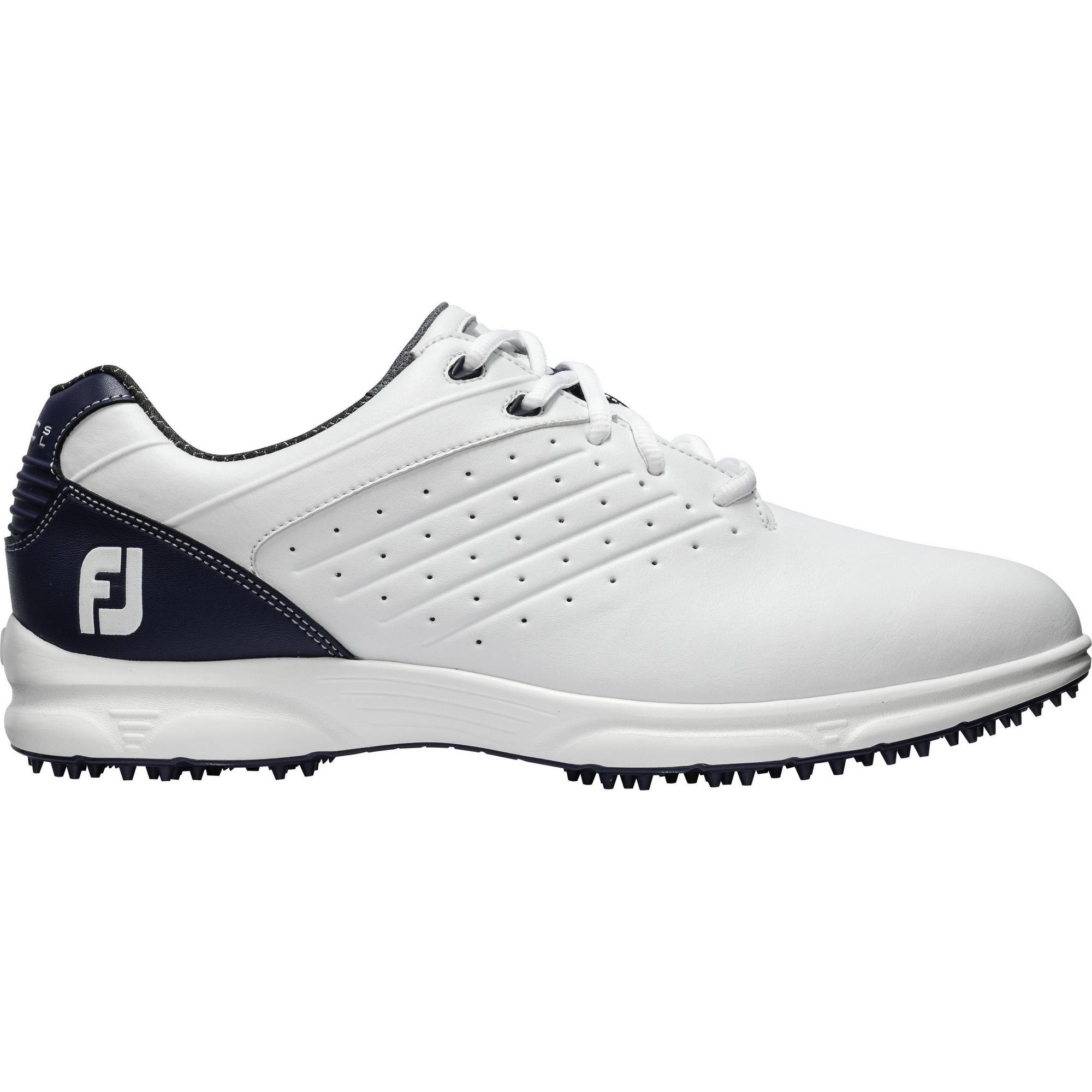Men's Arc Spikeless Golf Shoe - WHT/NVY