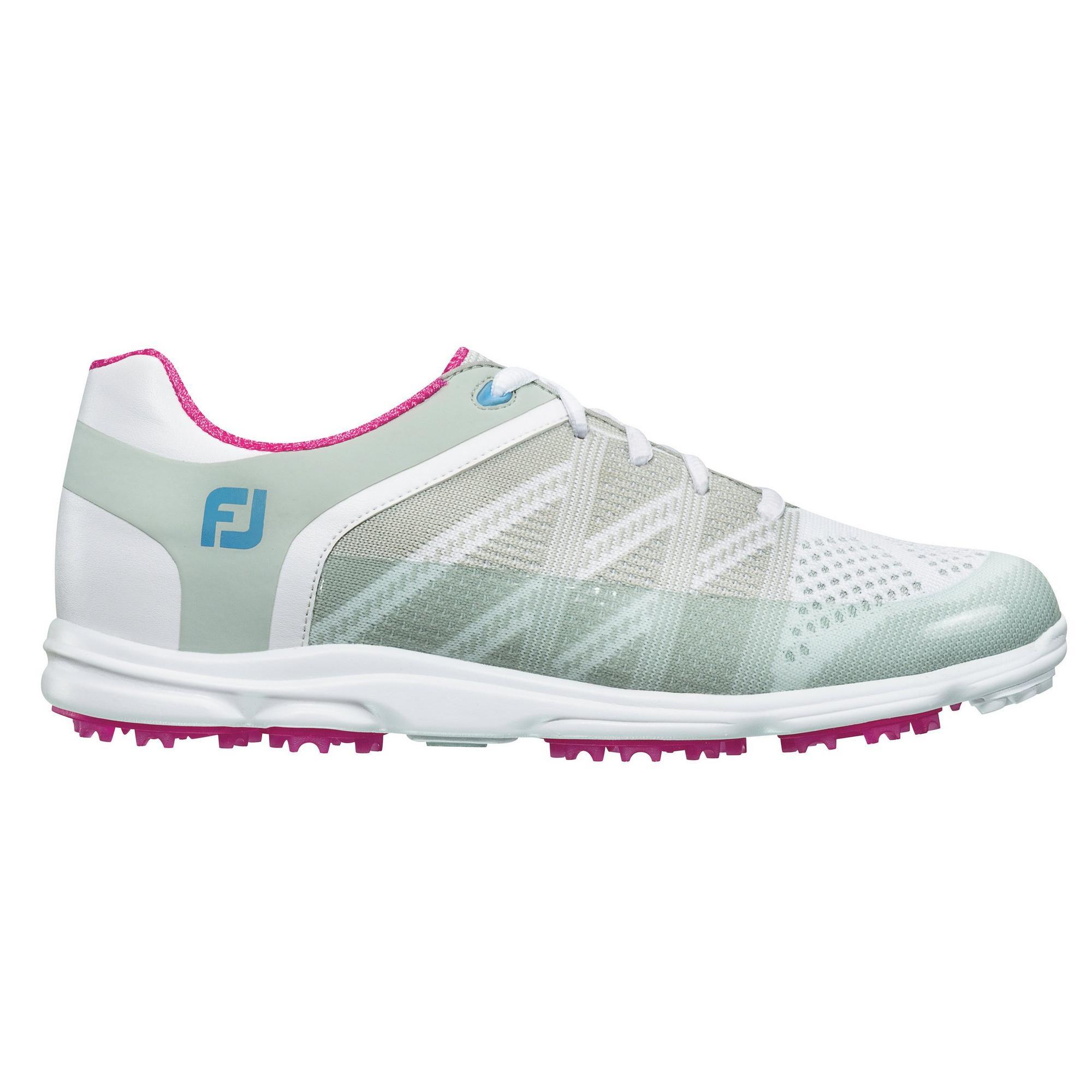 Women's Sport SL Spikeless Golf Shoe - WHT/PNK