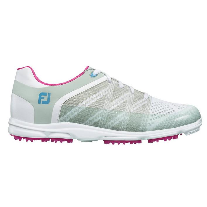 Women's Sport SL Spikeless Golf Shoe - WHT/PNK