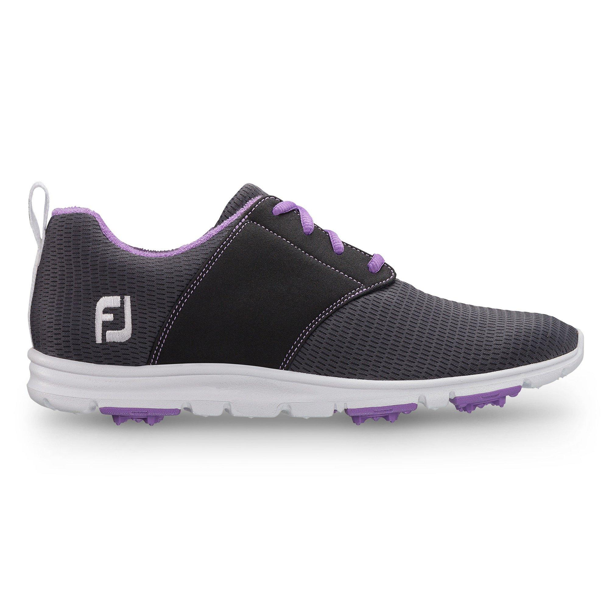 Women's Enjoy Spikeless Golf Shoe - DKGRY/LTPUR