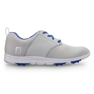 Women's Enjoy Spikeless Golf Shoe - LTGRY/BLU