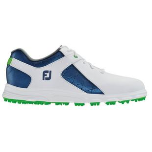 Junior Pro SL Spikeless Golf Shoe - WHT/BLU/GRN