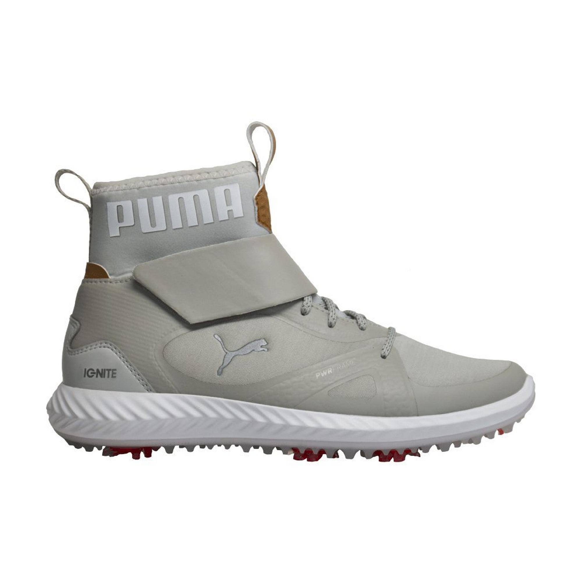 Junior's Ignite Poweradapt Hi-Top Spiked Golf Shoe - WHT/SIL