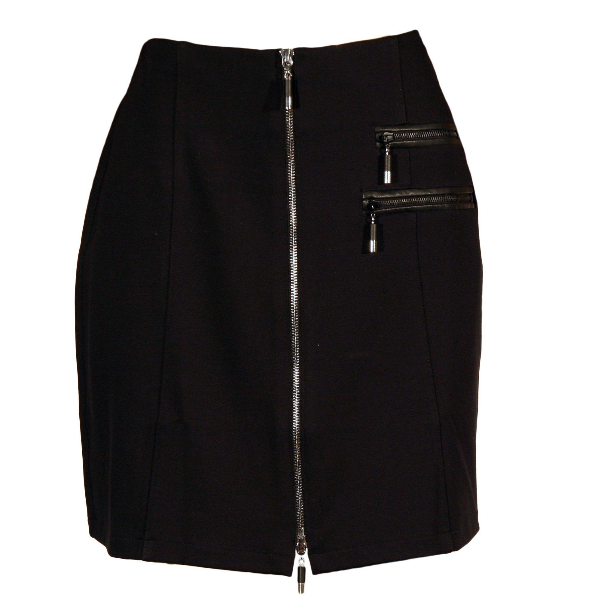 Women's Ponte 18 Inch Front Zip Skirt