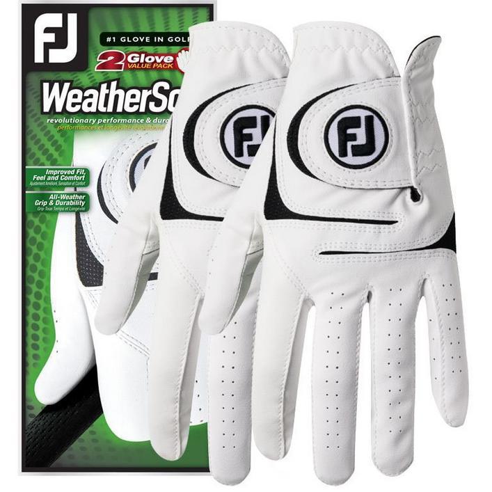 WeatherSof Mens 2Pk Golf Gloves