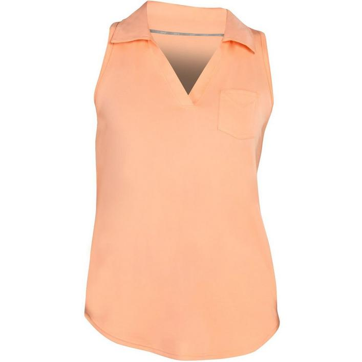Women's Pocket Cutaway Sleeveless Polo