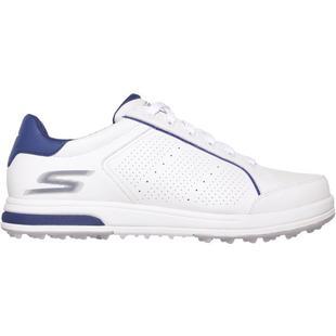 Chaussures Go Drive décontractées sans crampons pour hommes - Blanc/Bleu foncé