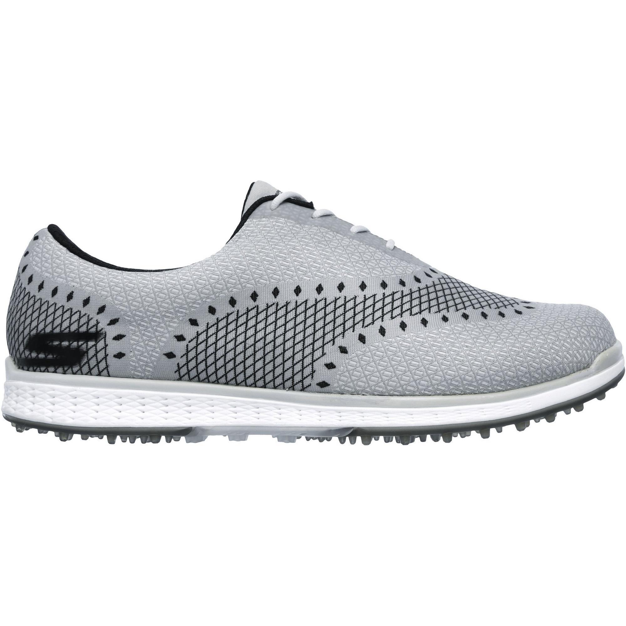 Men's Go Golf Elite Ace Spikeless Golf Shoe- LTGRY/BLK