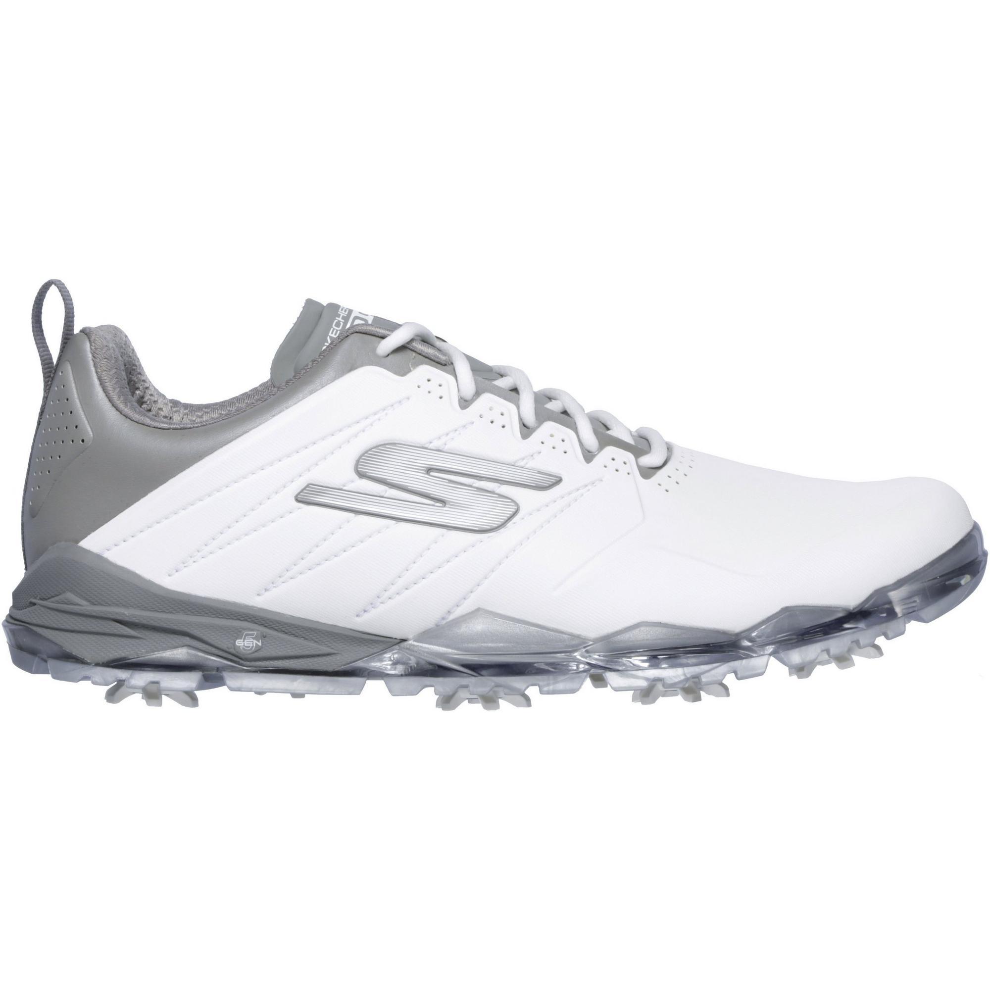 Men's Go Golf Focus 2 Spiked Golf Shoe - WHT/GRY