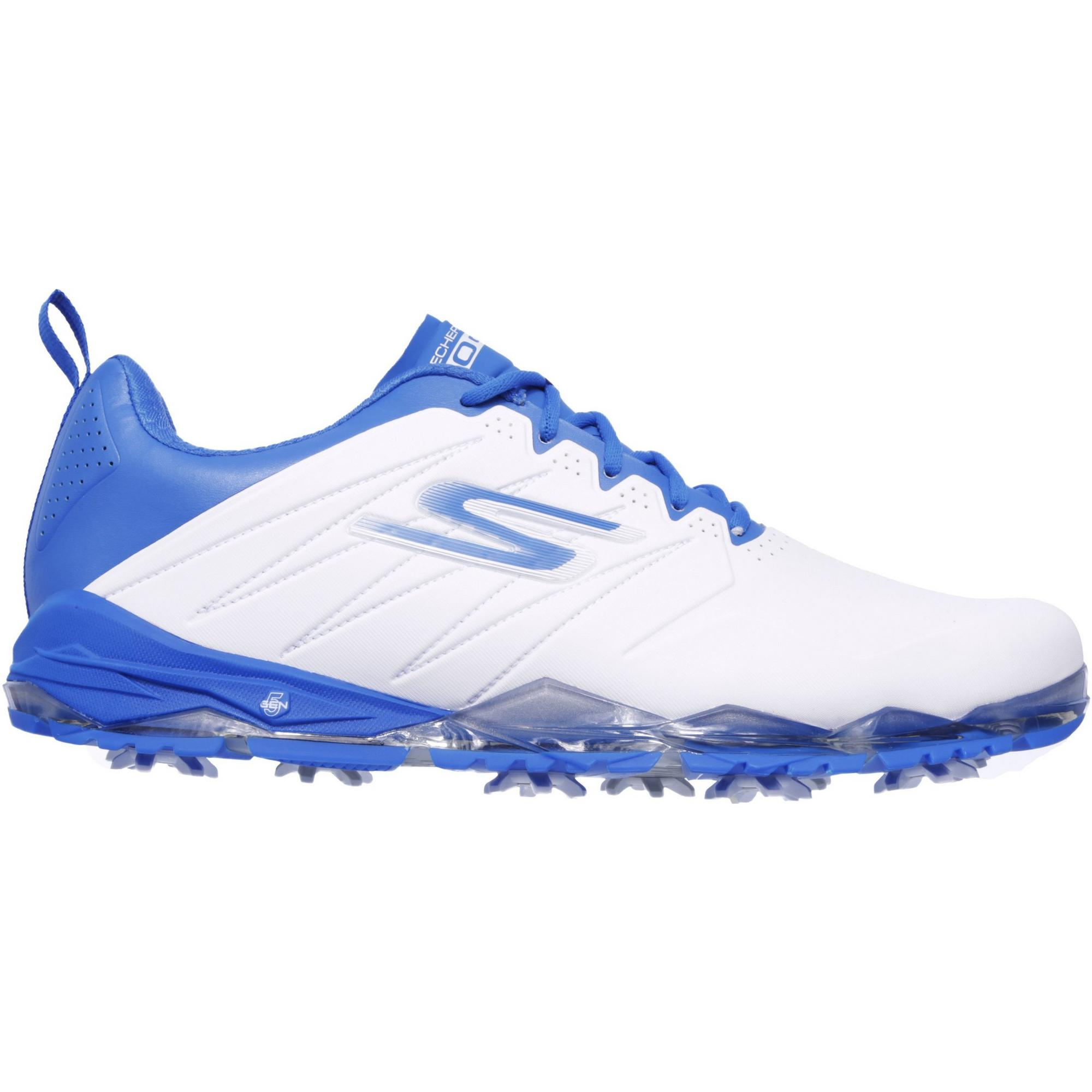 Men's Go Golf Focus 2 Collegiate Spiked Golf Shoe - WHT/BLU