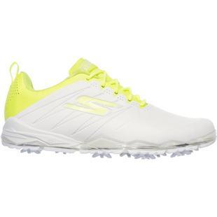 Chaussures Go Golf Focus 2 Collegiate à crampons pour hommes - Blanc/Lime