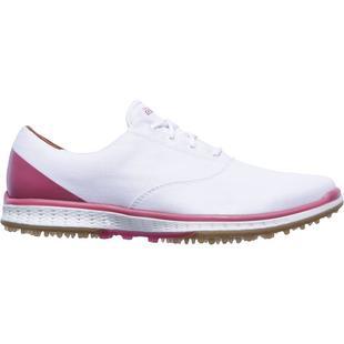 Chaussures Go Golf Elite 2 Canvas Oxford sans crampons pour femmes - Blanc/Rose