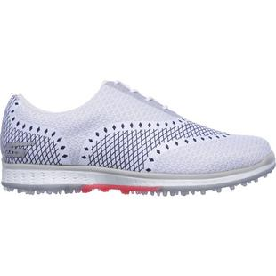 Women's Go Golf Elite Ace Spikeless Golf Shoe - WHT/NVY