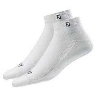 Mens Prodry Sport 2PK White No Show Socks