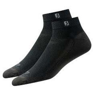 Mens Prodry Sport 2PK Black No Show Socks