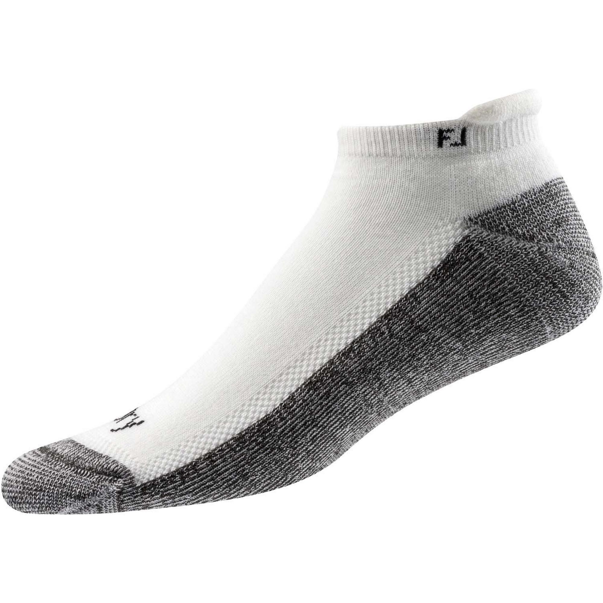 Mens Prodry Roll Tab White Socks