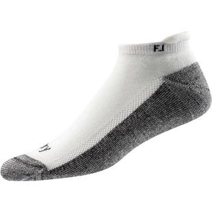 Mens Prodry Roll Tab White Socks