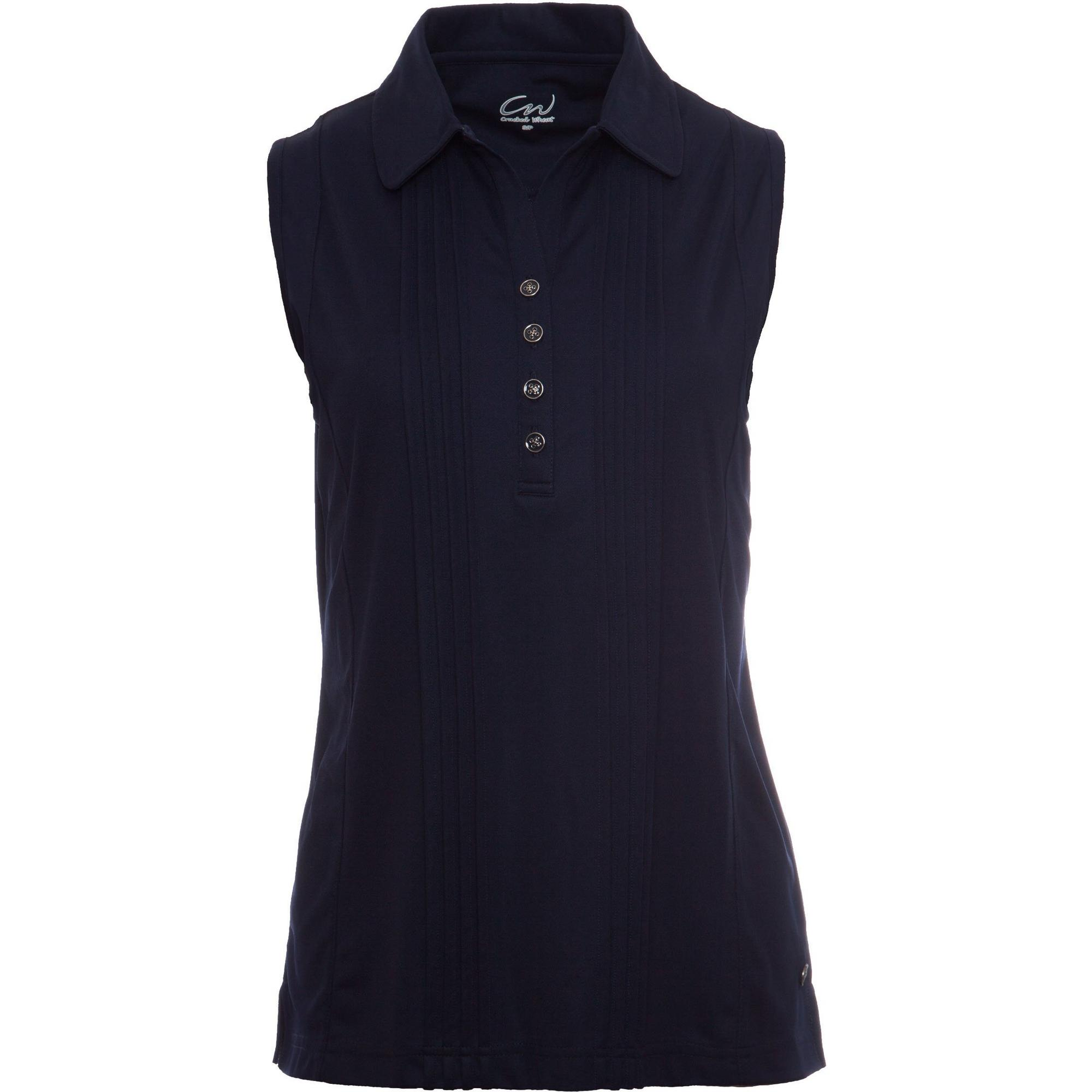 Women's Fanny Pintuck Sleeveless Polo