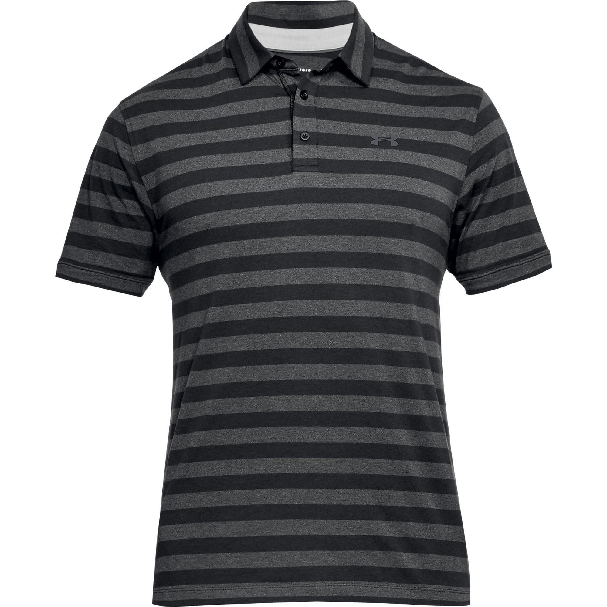 Men's Charged Cotton Scramble Stripe Short Sleeve Polo