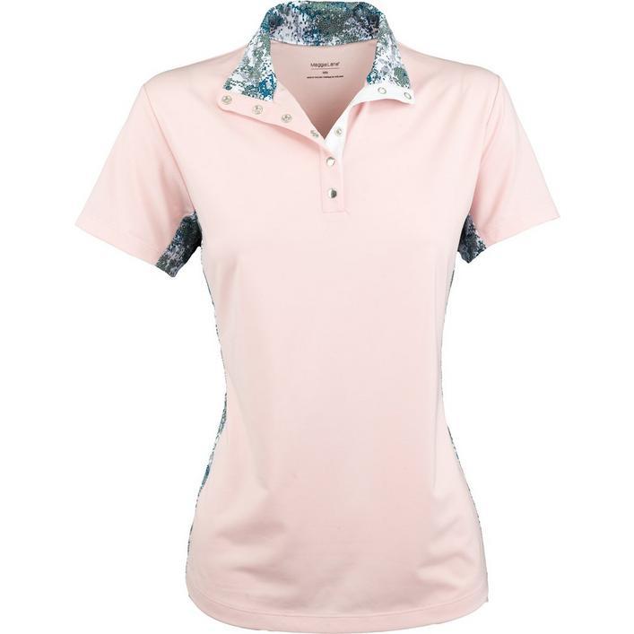 206b0b94c Women's Short Sleeve Mock Neck Polo | MAGGIE LANE | Golf Town Limited