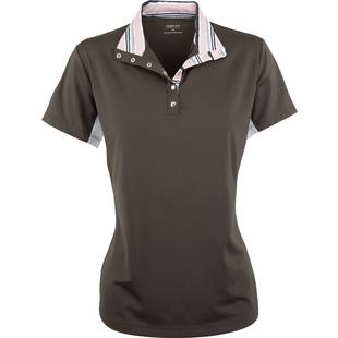 Women's Short Sleeve Mock Neck Polo