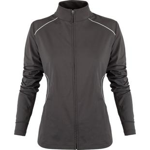 Women's Long Sleeve Full Zip Piped Jacket