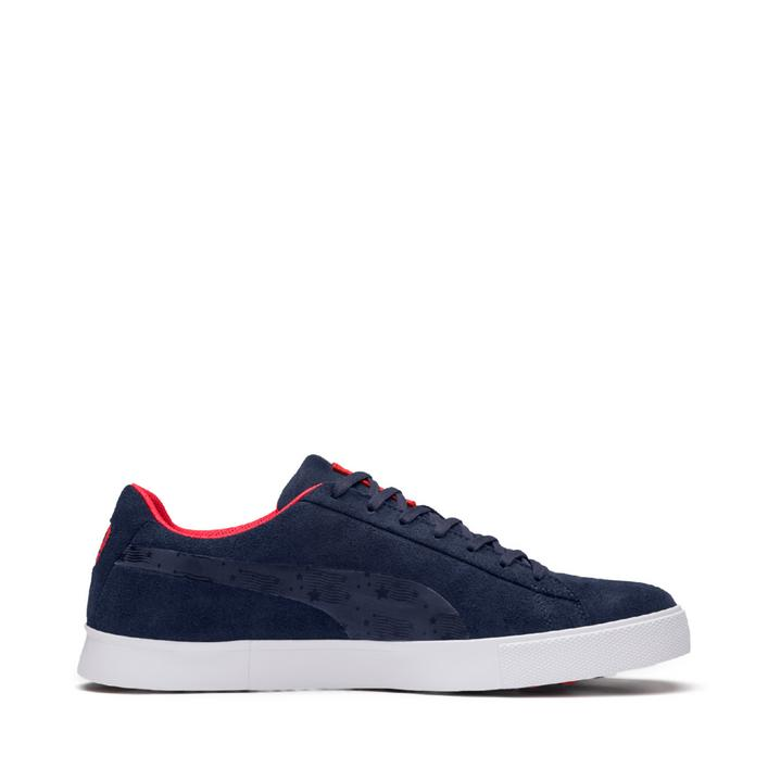 Men's Suede G Ryder US Spikeless Golf Shoe - Navy/Red/White