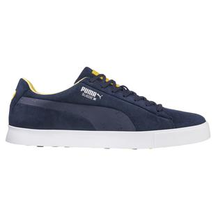 Men's Suede G Ryder EU Spikeless Golf Shoe - Navy/Yellow/White
