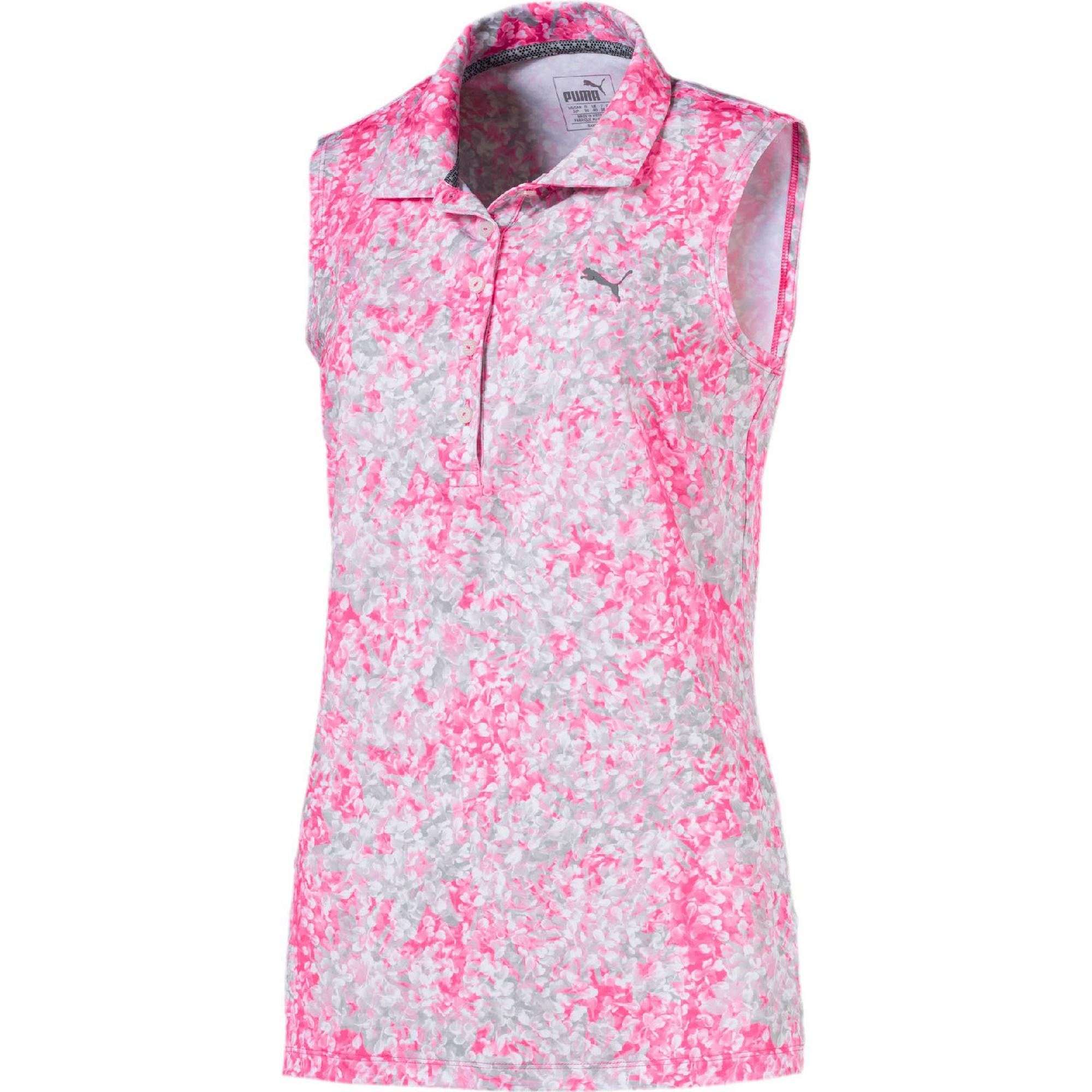 Women's Floral Sleeveless Polo