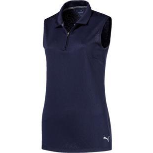 Women's Jacquard Sleeveless Polo