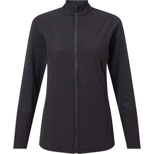Women's Thermal Perforated Full Zip Long Sleeve Jacket