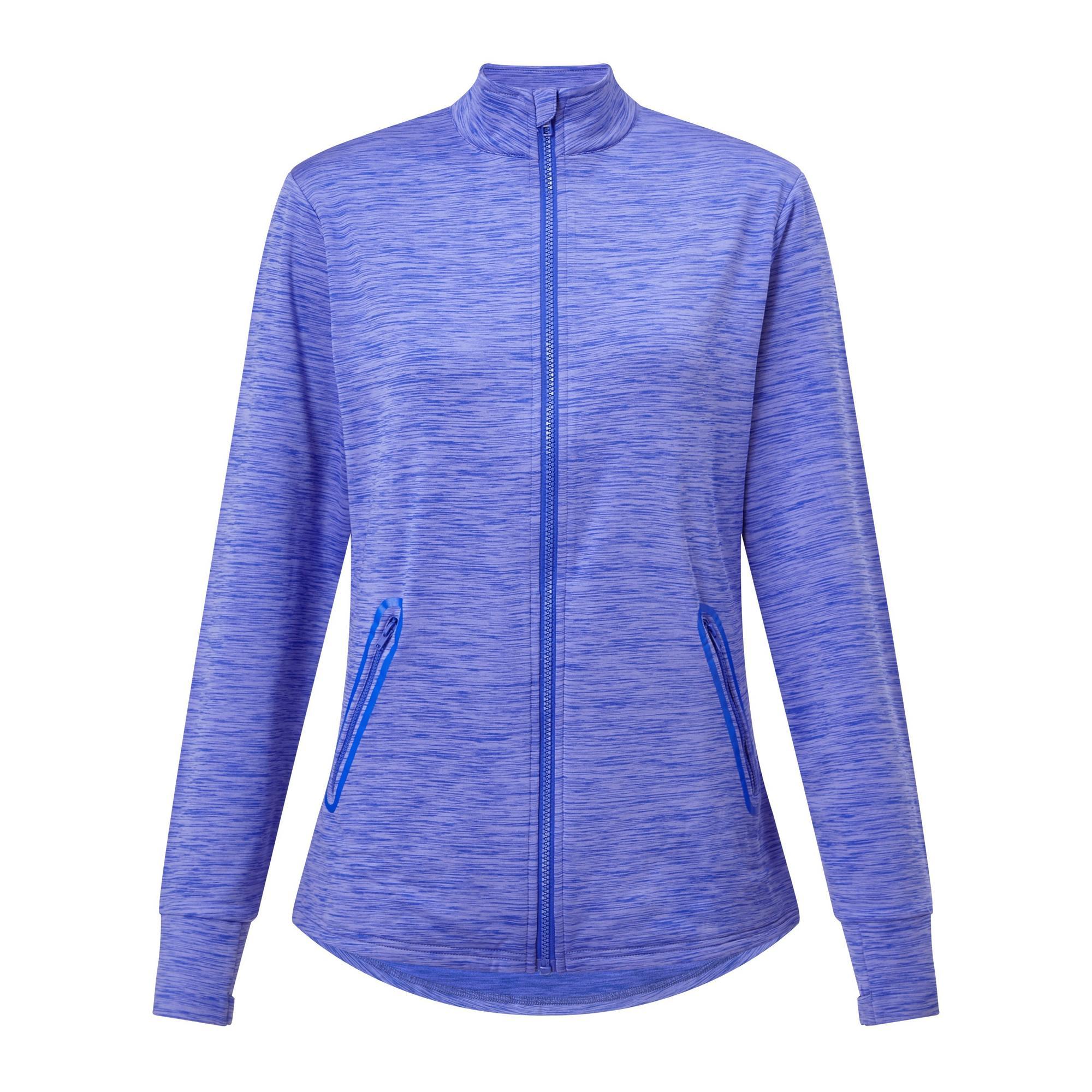 Women's Space Dye Fleece Full Zip Long Sleeve Jacket
