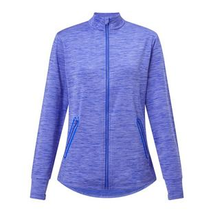 Women's Space Dye Fleece Full Zip Long Sleeve Jacket