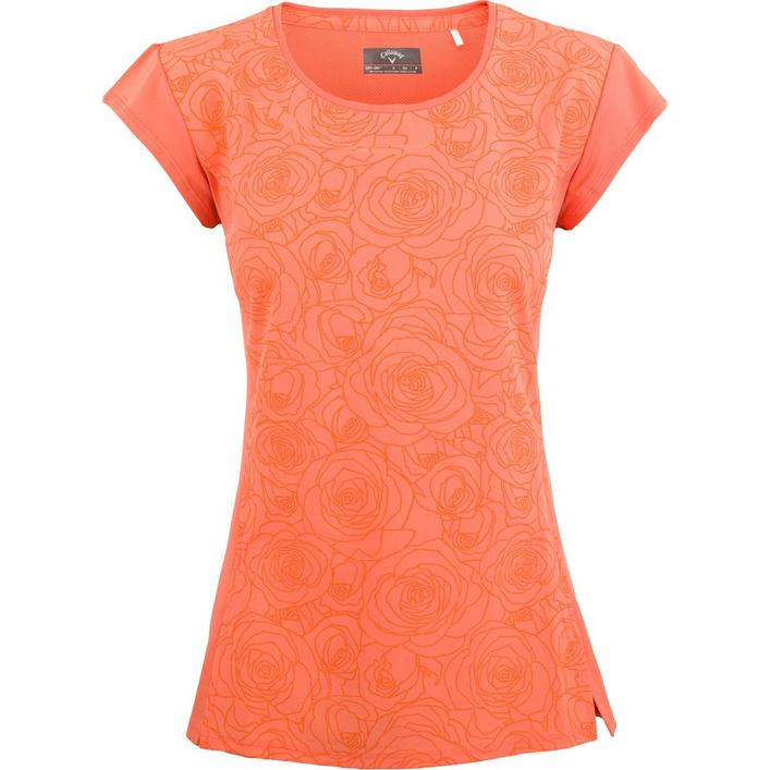 Women's Floral Print Lifestyle Short Sleeve Polo
