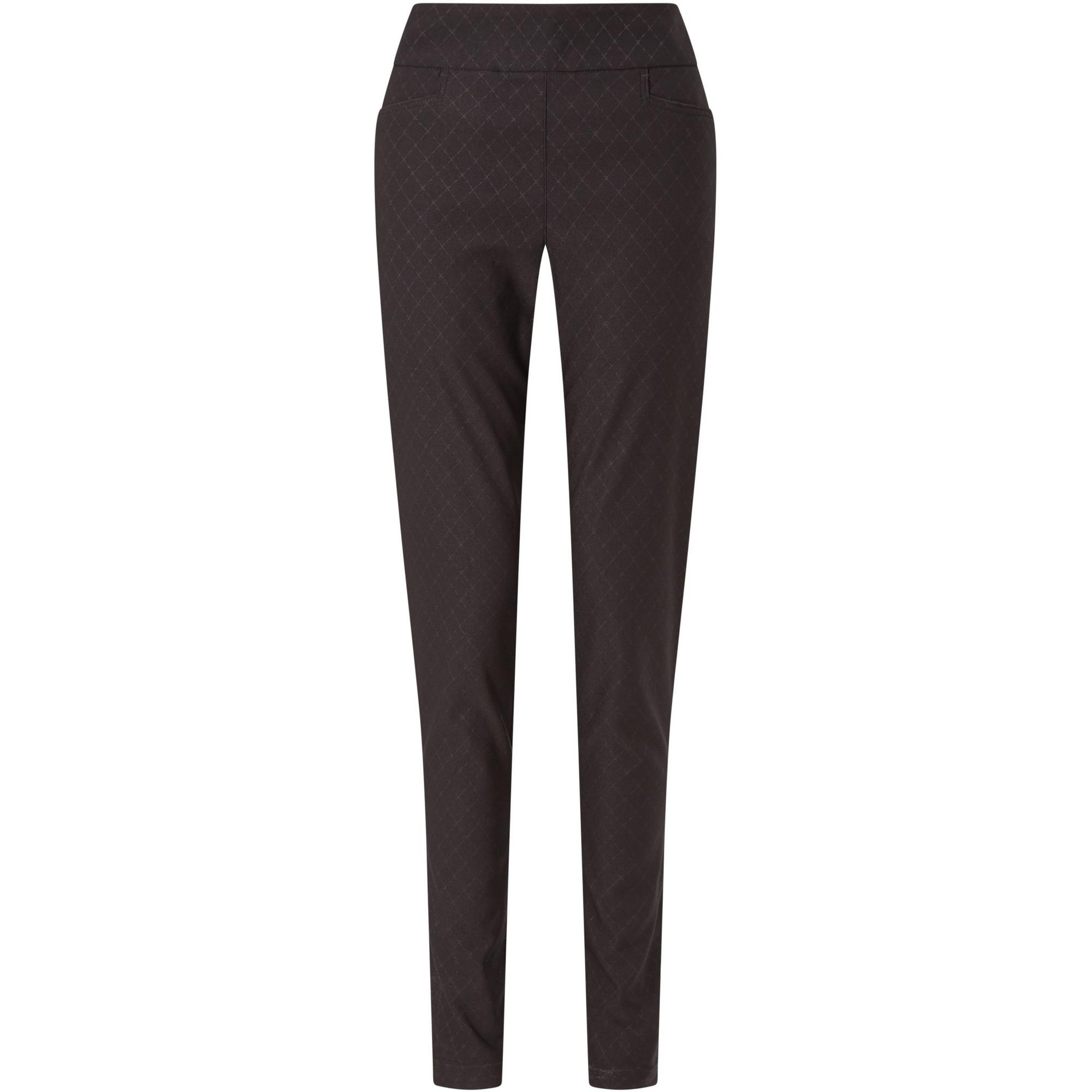 Women's Stretch Embossed Argyle Print Pull-On Pant