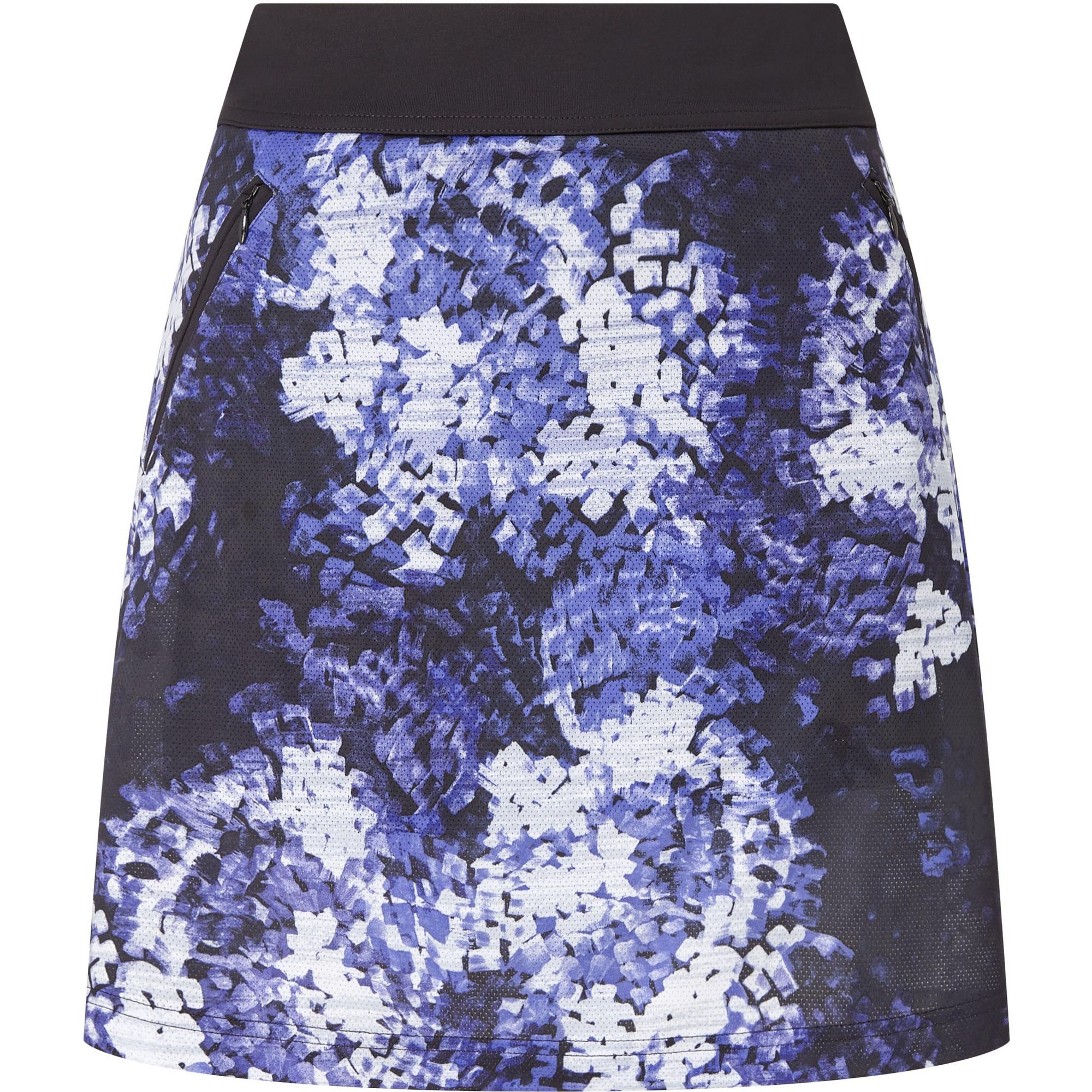 Women's Brush Stroke Printed 18 Inch Mesh Knit Skort