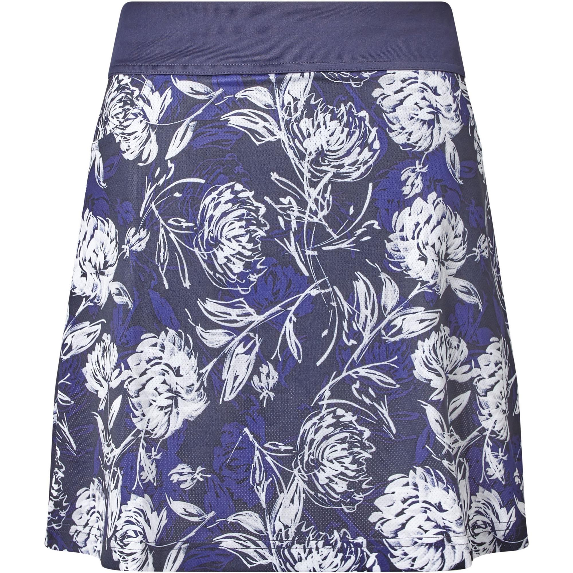 Women's Tropical Print 18 Inch Mesh Knit Skort