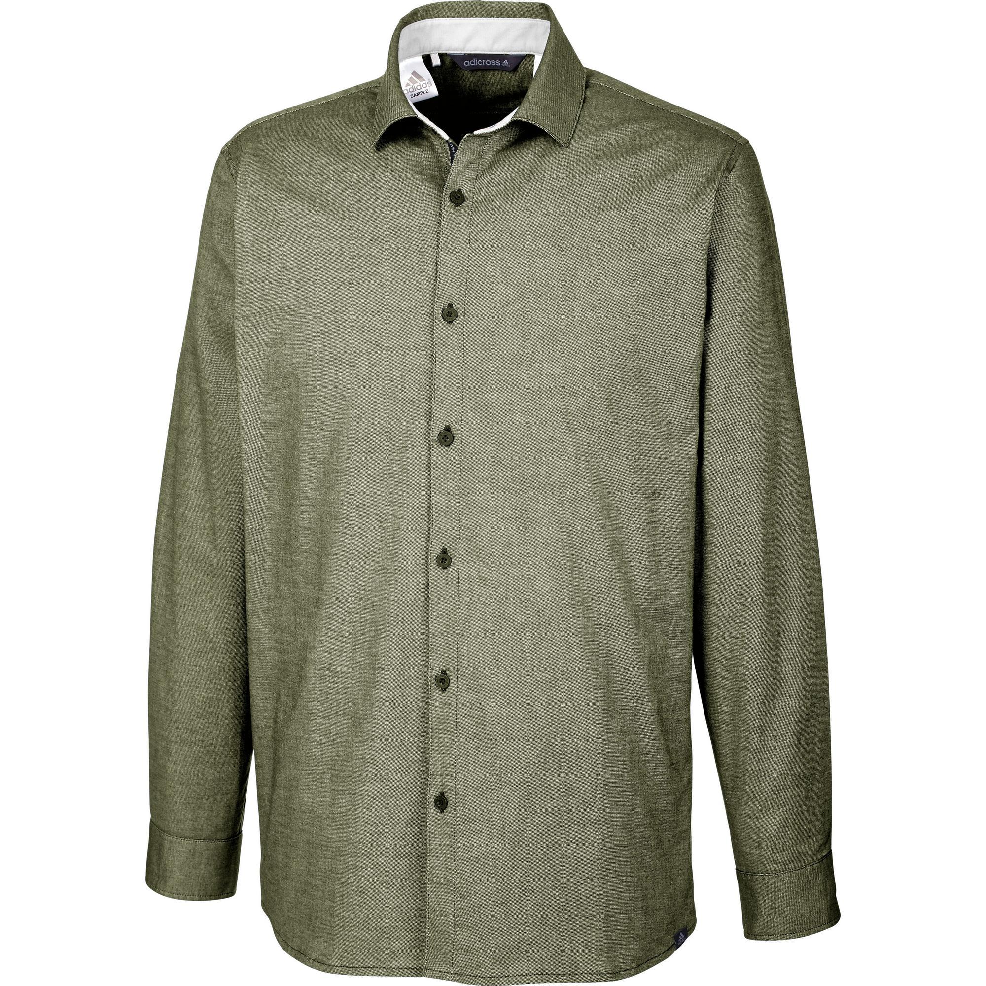 Men's adicross Beyond 18 Stretch Woven Oxford Long Sleeve Shirt
