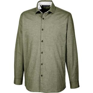 Men's adicross Beyond 18 Stretch Woven Oxford Long Sleeve Shirt