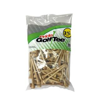 Pride Deluxe Natural 100pk Golf Tees