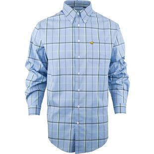 Men's Enlarged Plaid Woven Long Sleeve Shirt