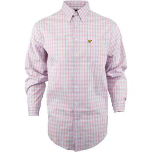 Men's Gingham Woven Long Sleeve Shirt