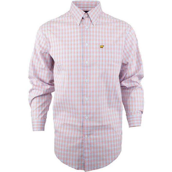Men's Gingham Woven Long Sleeve Shirt