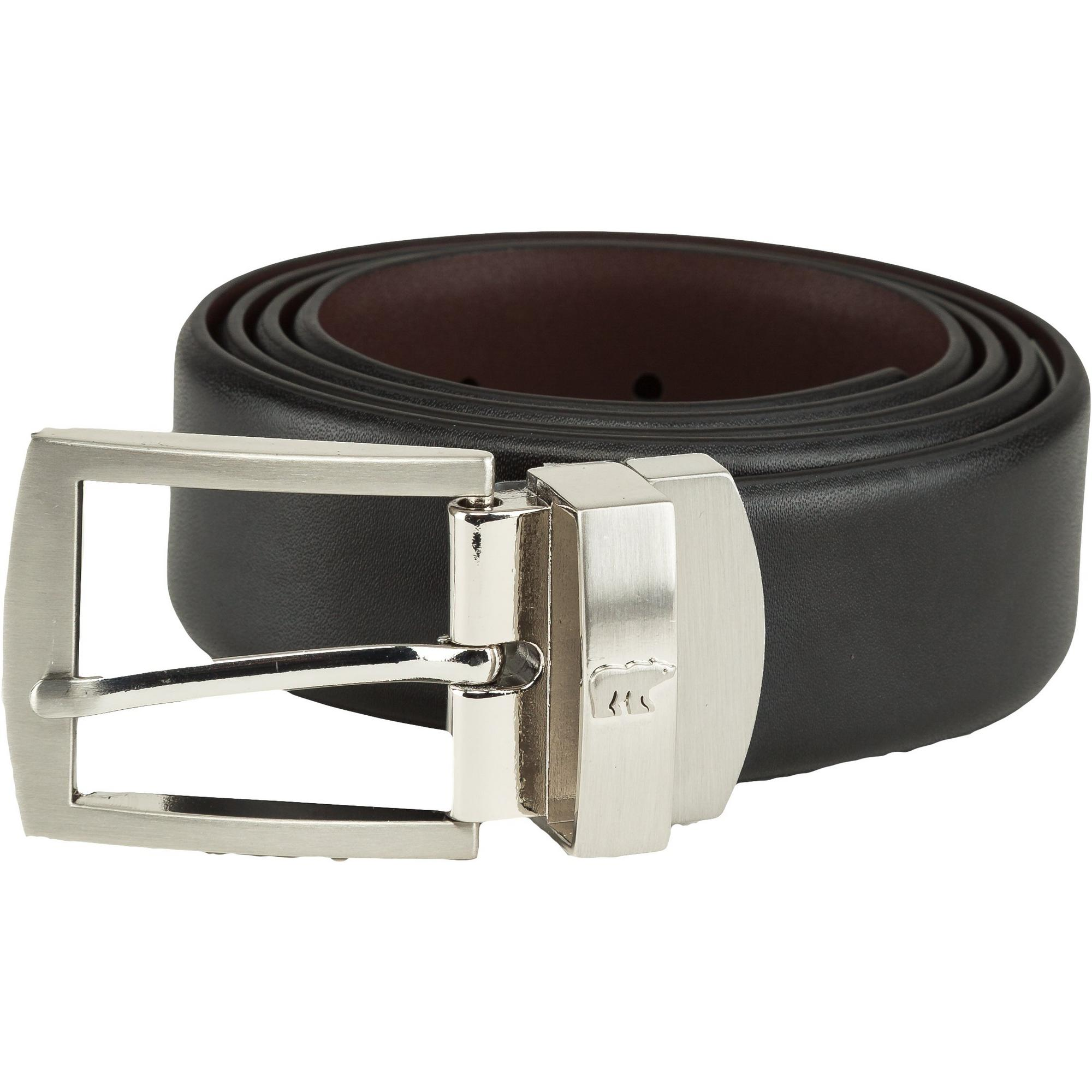 Men's Reversible Leather Belt with Prong