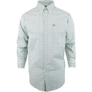 Men's Woven Micro Plaid Long Sleeve Shirt