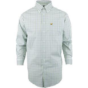 Men's Woven Micro Plaid Long Sleeve Shirt
