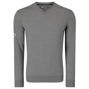 Men's Merino Solid V-Neck Sweater