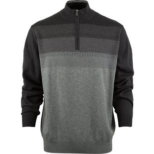Men's Thermal Ombre Jacquard 1/4 Zip Sweater