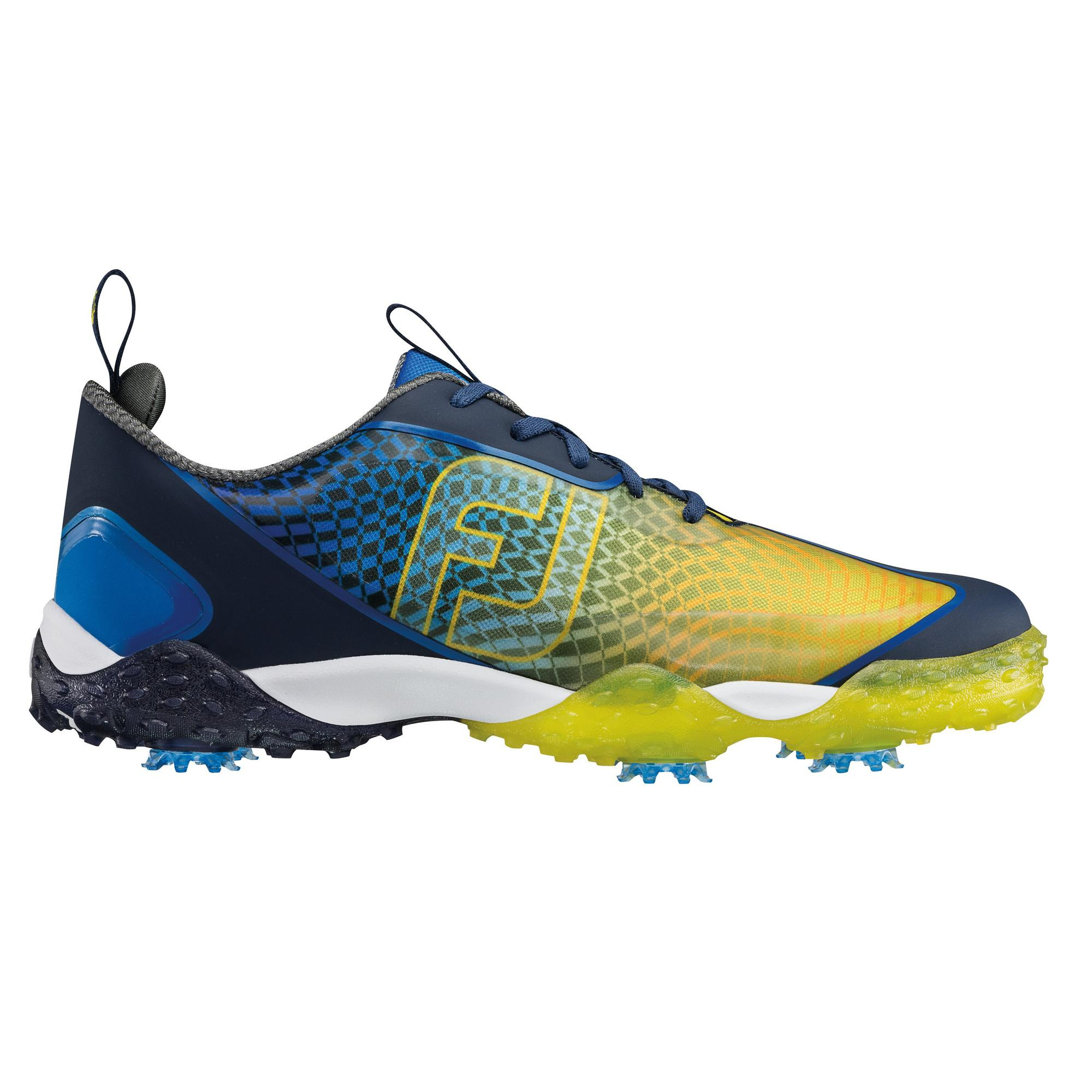 Men's Freestyle 2.0 Spiked Golf Shoe - Blue/Yellow